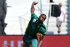 Kagiso Rabada can bowl consistently above 140km/h - with the ball moving both ways. Photo / Photosport