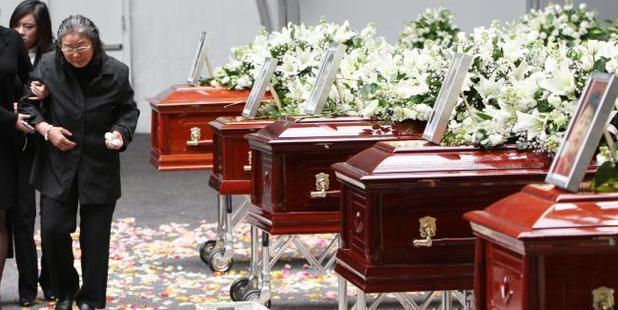 The Lin family funeral. Photo / News Corp Australia