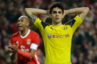 Dortmund's Marc Bartra reacts next to Benfica's Luisao. Photo / AP