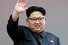 North Korean leader Kim Jong Un waves at parade participants at the Kim Il Sung Square in Pyongyang, North Korea. Photo / AP