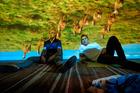 Simon (Jonny Lee Miller) and Mark Renton (Ewan McGregor) in TriStar Pictures' T2: TRAINSPOTTING