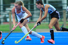Liz Thompson in action for the Black Sticks against Argentina. Photo/Hernan Pablo Barrios