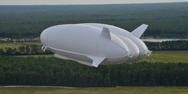 The Airlander suffered considerable damage during its first flight. Photo / Supplied