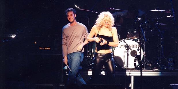 Ed Norton & Courtney Love in 1998. Photo / Getty