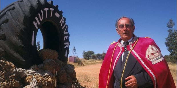 Prince Leonard Castley of the Hutt River Principality pictured in 1998. Photo / Getty Images