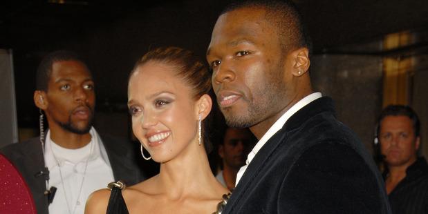 Jessica Alba and 50 Cent. Photo / Getty