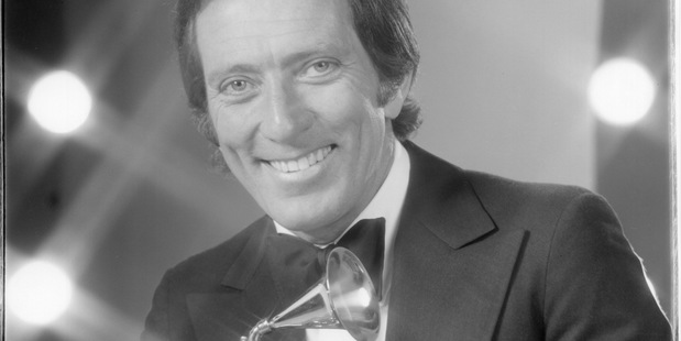 Andy Williams at the Grammys, 1972. Photo / Getty