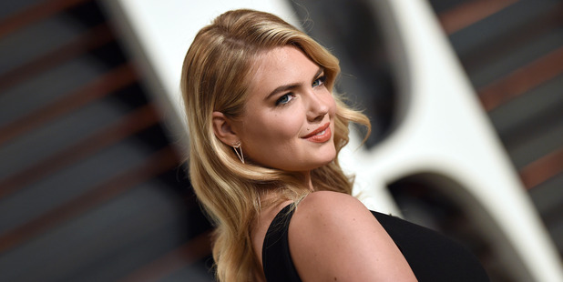 Model Kate Upton arrives at the Vanity Fair Oscar Party. Photo / Getty
