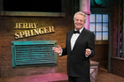 Jerry Springer on the set of his show. Photo / Getty