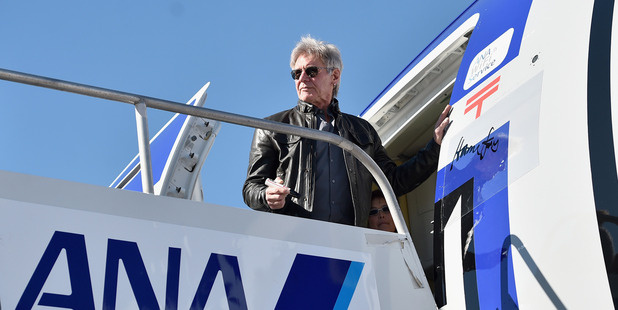 Harrison Ford loves aviation. Photo / Getty