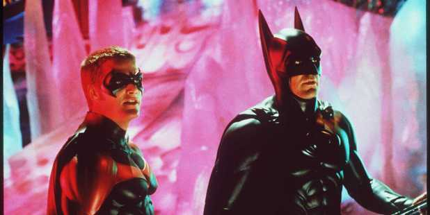Batman And Robin Movie starring George Clooney And Chris O'Donnell. Photo / Getty