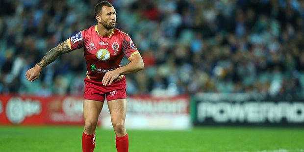 Quade Cooper was trying to dab before it was a thing. Photo / Getty