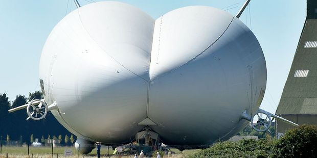 Part airship, part helicopter the Airlander 10 does not require a runway to take off. Photo / Barcroft Media via Getty Images