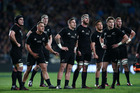 The All Blacks wait for the TMO's decision during a match against South Africa last year. Photo / Getty