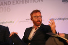 Former Fiji Sevens coach Ben Ryan chats during the World Rugby Conference and Exhibition 2016 in London last November. Photo / Getty Images.