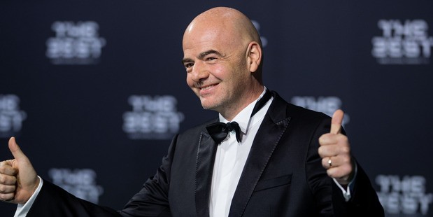 FIFA president Gianni Infantino intends to encourage co-hosting the 2026 FIFA World Cup to potential hosting bidders. Photo / Getty Images.