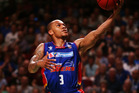 Jerome Randle of the Adelaide 36ers goes for the basket. Photo / Getty Images