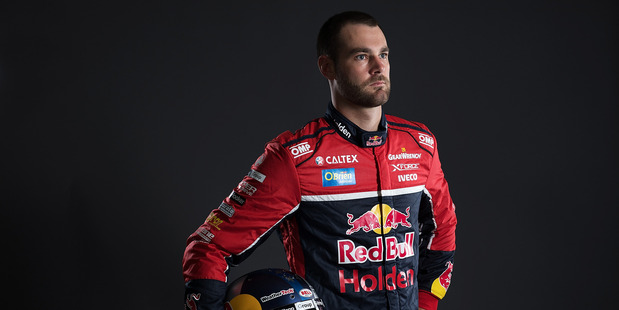 Shane Van Gisbergen poses during a portrait session during the 2017 Supercars media day. Photo / Getty Images