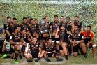 The Chiefs celebrate their victory at the Rugby Global Tens. Photo / Getty