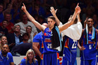 Nathan Sobey reacts during the game one NBL Semi Final between Adelaide and Illawarra. Photo / Getty Images