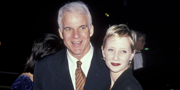 Steve Martin and Anne Heche. Photo / Getty