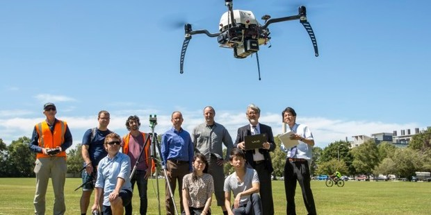 CLEVER: Canterbury University students are working with Japanese academics to develop technologies that could be used to find people after a natural disaster. Photo / Christchurch Star