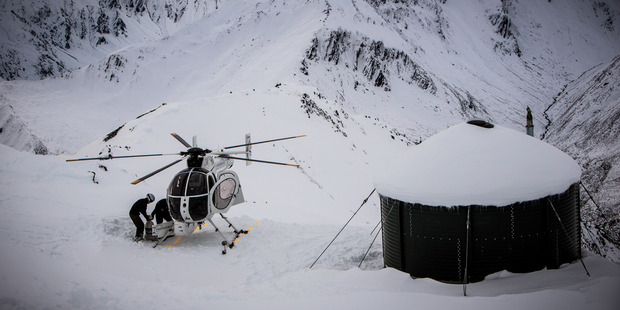The Mountain Hut can only be accessed by helicopter. Photo / Supplied