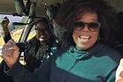 Oprah Winfrey shared her flight over Lake Hawea with her 8.3 million social media followers. Photo / Instagram
