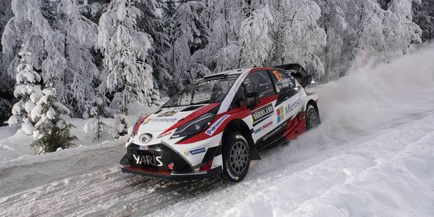 Jari-Matti Latvala on his way to victory at Rally Sweden. Photo / Red Bull Media