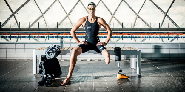 Loading New Zealand's most decorated Paralympian Sophie Pascoe is the face of Rebel Sport's new campaign. Photo / Supplied