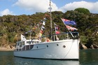 The 1919 kauri cruising boat, Raiona, and her dry dock in Whangarei are up for sale. Photo/Sarah Charles