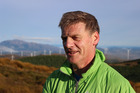 Prime MInister Bill English on his morning walk up White Hill Wind Farm in Dipton. Photo / Claire Trevett