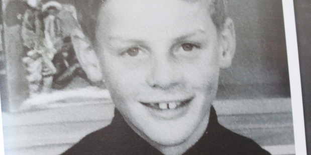 Bill English as a schoolboy at St Thomas' School in Winton. Photo / Claire Trevett