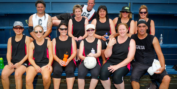 The Misfits who got silver in the open mixed grade netball at the Masters Games.