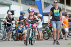 BIKING FUN: Kayla MacDonald, 7, had fun riding around the Arawa Park Race Course. PHOTO/BEN FRASER