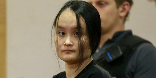 Yuiuo Qin, 35, is sentenced in the Auckland District Court today after pleading guilty to abandoning her 14-month-old daughter and 4-year-old son with nannies while working in the sex industry. Photo / Nick Reed