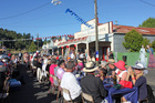 Diners in Mangaweka's main street enjoyed a French themed twilight dinner and entertainment on Saturday night.