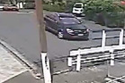 Stil from CCTV video released by Auckland City Police showing a car thought to be used in the attempted abduction. Photo / Police