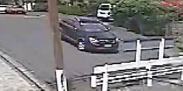 Loading Stil from CCTV video released by Auckland City Police showing a car thought to be used in the attempted abduction. Photo / Police