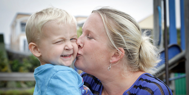 Mum-of-two Michele Hunter was terrified her son Jackson had been taken when he went missing at Bayfair. Photo / Andrew Warner