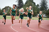 LOVING IT: Bellevue Athletics Club runners, left to right, Maia Basile, Kayli Tuiraviravi, Jess Bell, Abigail Griffiths and Alex Ormsby. PHOTO: ANDREW WARNER