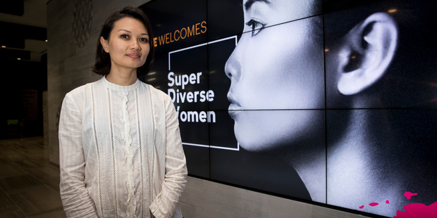 Bic Runga at the Super Diverse Women Launch at NZME Central, yesterday. Photo / Dean Purcell