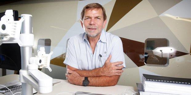 Graham 'Skroo' Turner in Flight Centre's new office in Brisbane.  Photo / Steve Pohlner
