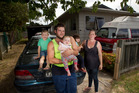 Corin Van Erven, his partner Amiee Murphy and their children Malaki, 6, Sophia, 3, and Savannah, 8 months, have been trying to find a rental in Rotorua for four months. PHOTO/BEN FRASER