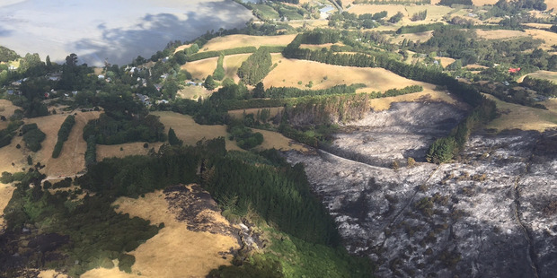 The Port Hills fire and surrounding zones remains off limits to everyone. Photo / Chelsea Daniels