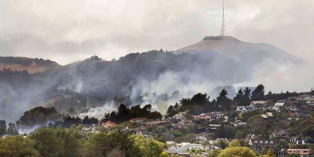 Smoke covers the Port Hills. Photo / via Facebook