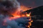 Firefighters battle the Port Hills fire. Photo / Mark Hannah Photography