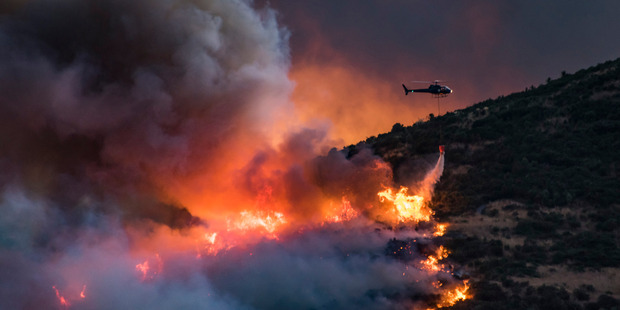 Loading Firefighters battle the Port Hills fire. Photo / Mark Hannah Photography