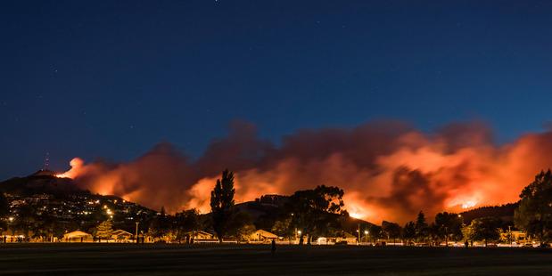Port Hills Fire, taken 15th February 2017. Photo / Mark Hannah