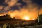 Fires rage in the Port Hills , Christchurch , 15th February 2017 Supplied by Oliver Watson/OWNZ